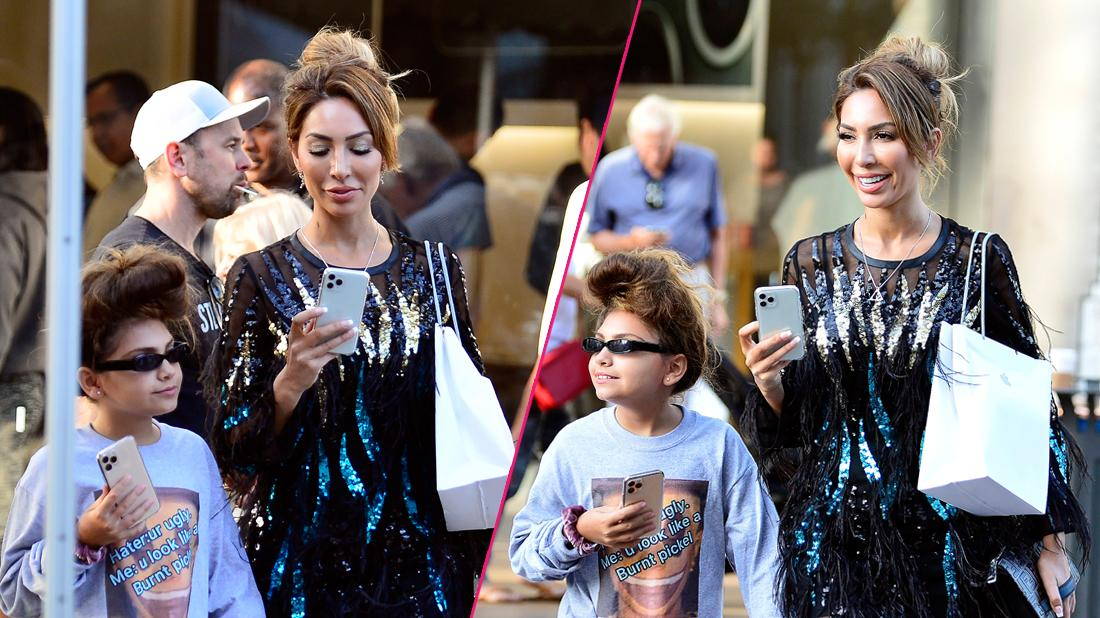 Farrah Abraham spoils herself and her daughter, Sophia as they are seen with their brand new $1200 iPhone 11 at the Grove in Los Angeles.