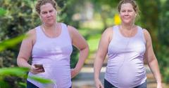 Pregnant Amy Schumer Shows Off Baby Bump During Makeup-Free Stroll