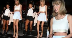 Taylor Swift Mini Skirt Crop Top Hollywood