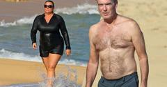//pierce brosnan shirtless keely shaye smith bikini beach pp