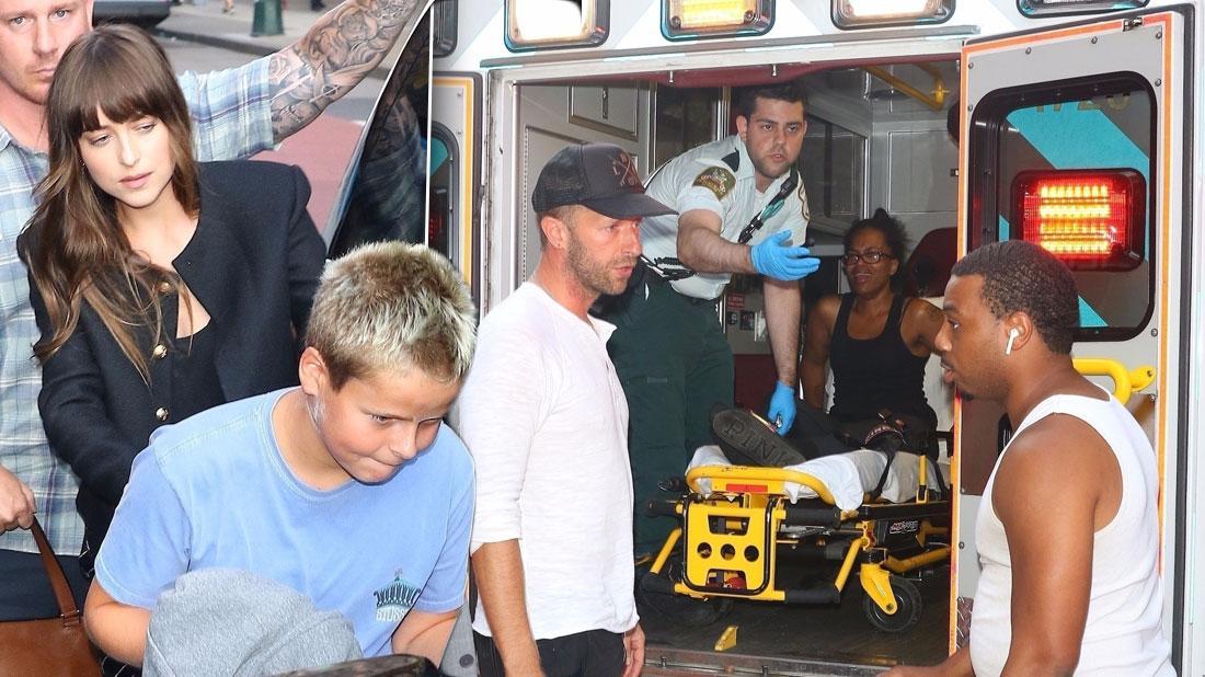 Chris Martin & Dakota Johnson's Driver Runs Over Pedestrian In New York City