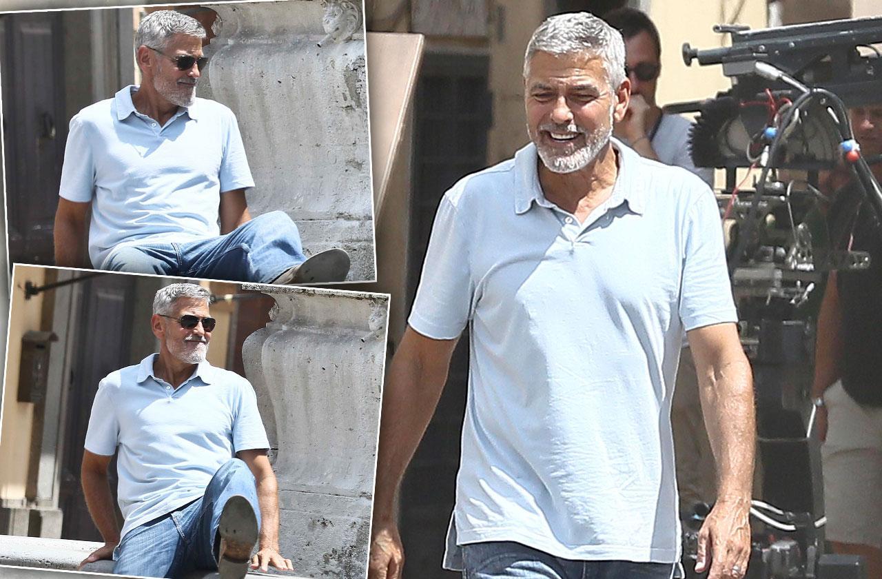 George Clooney Back On Set Car Crash