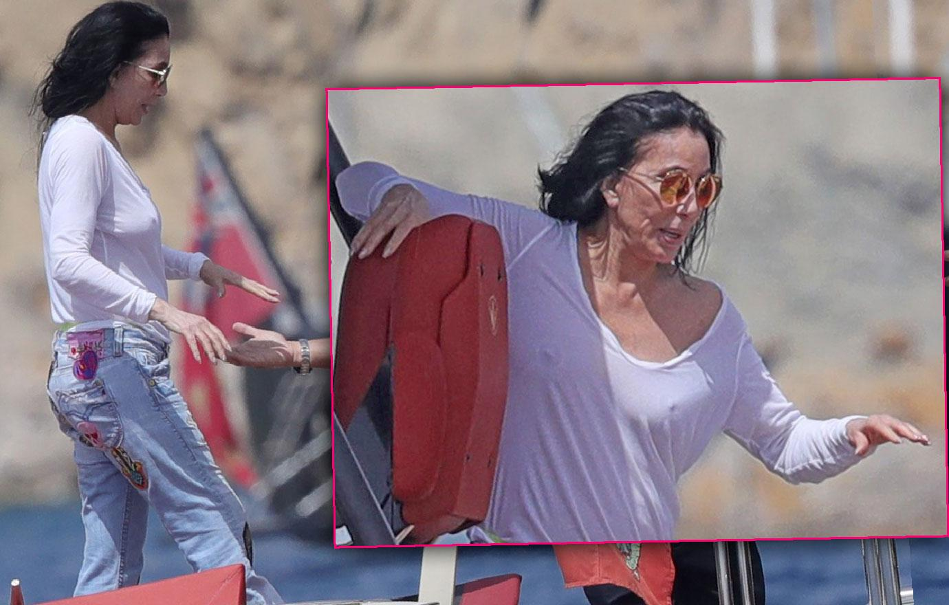 Cher Looks Fragile On Vacation In Ibiza