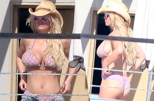 Jessica Simpson Butt Boobs Pink Bikini