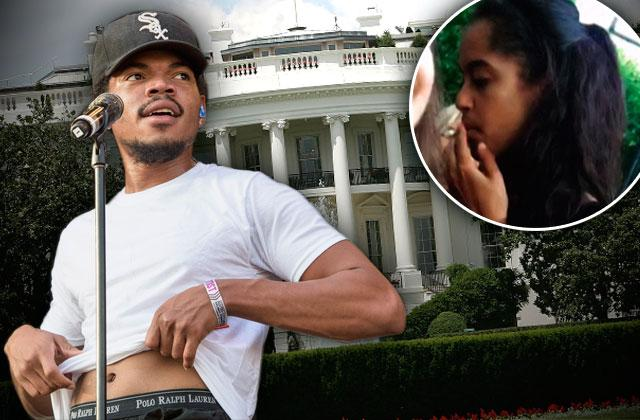 //white house state dinner guest malia obama pot taylor bennett chance rapper