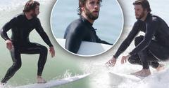 Liam Hemsworth Surfing Malibu Pics