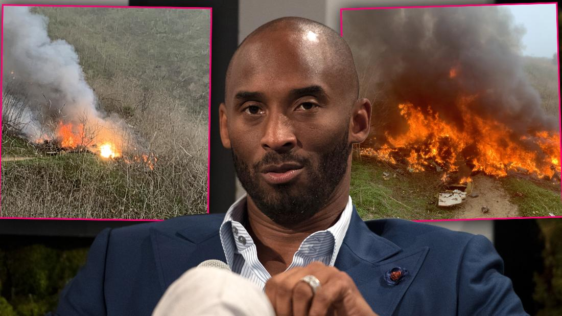 Kobe Bryant's Fiery Helicopter Crash Photos From The Death Scene