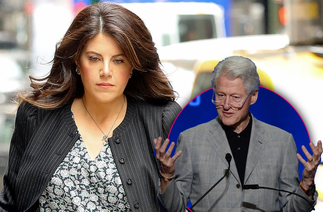 //monica lewisnky uninvited bill clinton shows up pp