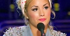 //demil lovato quits x factor pp