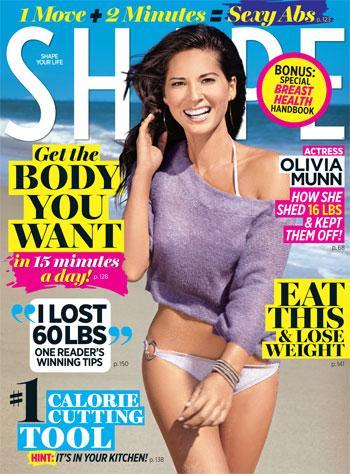//olivia munn shape magazine