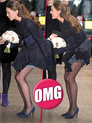 //princess kate middleton skirt fly up london