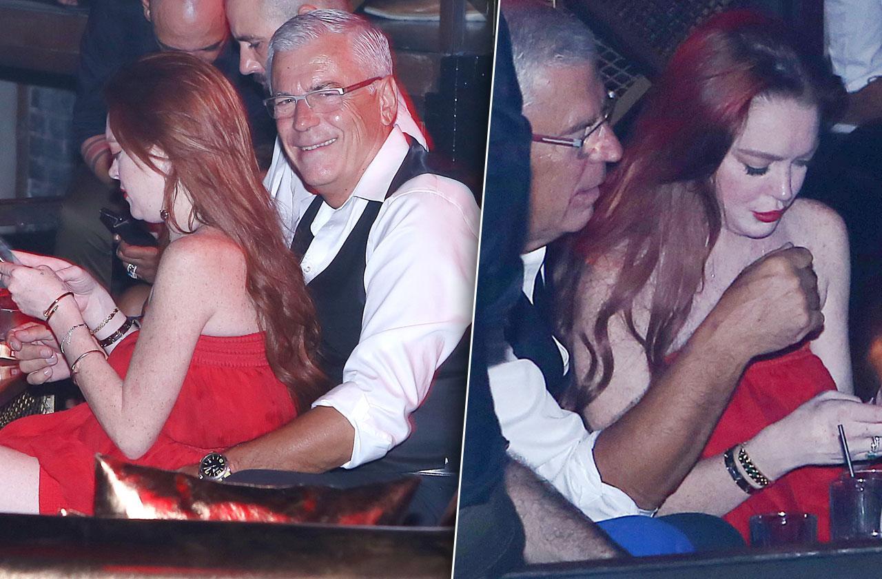 Lindsay Lohan Parties PDA Older Man