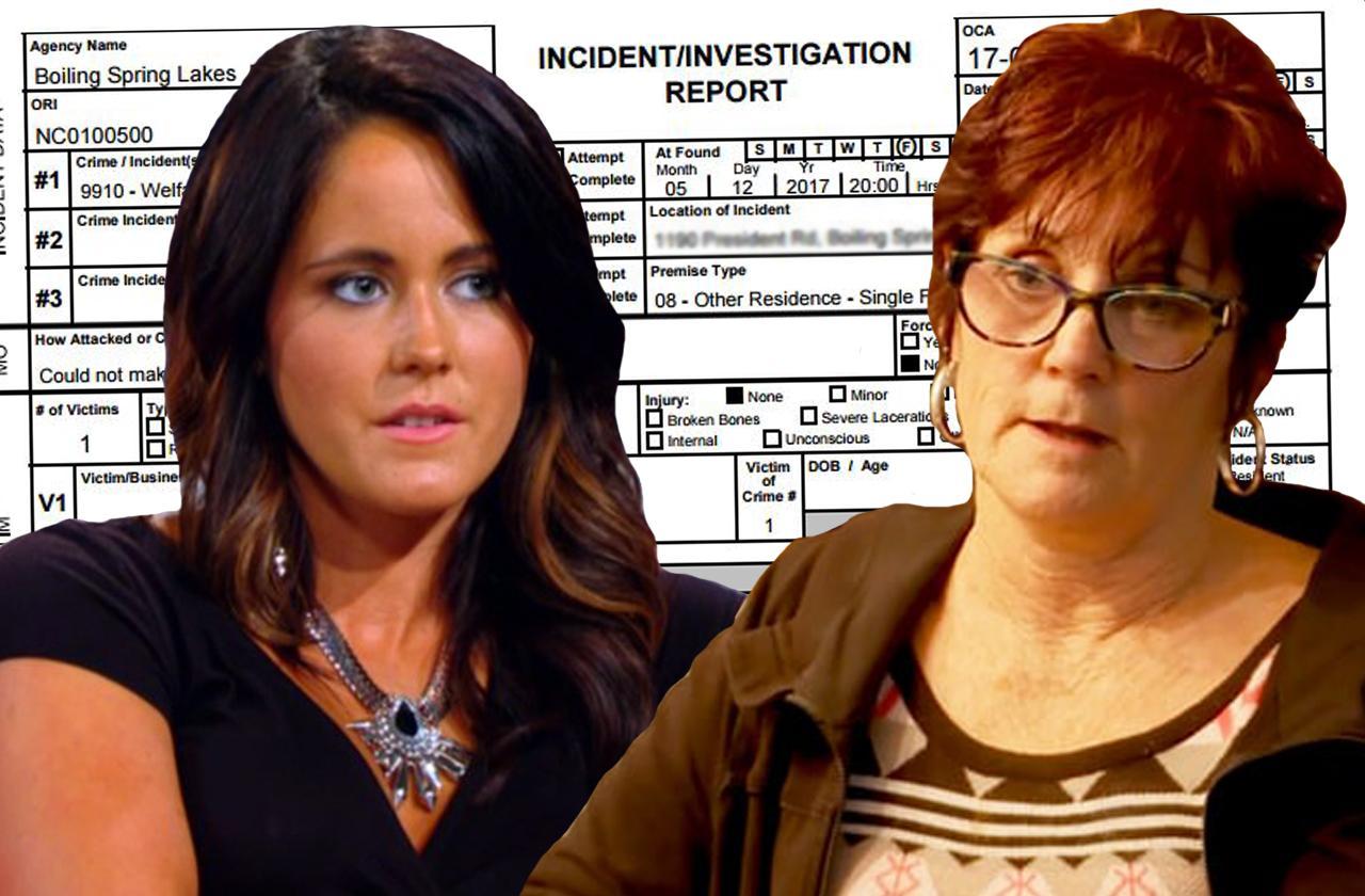 //jenelle evans police report arrest fight mom pp