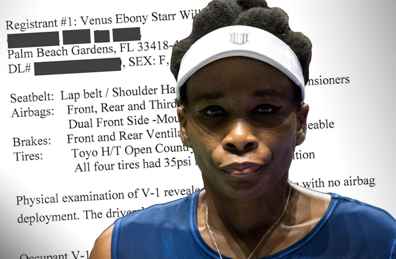 Venus Williams Car Accident No Charges