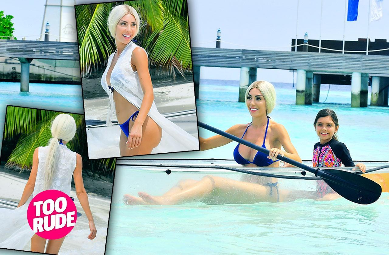 //Farrah Abraham White Bikini Body Butt Maldives PP