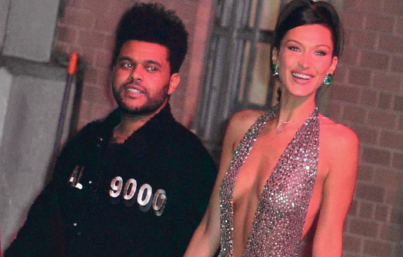 Bella Hadid And The Weeknd Take Late Night Pier Walk Photos