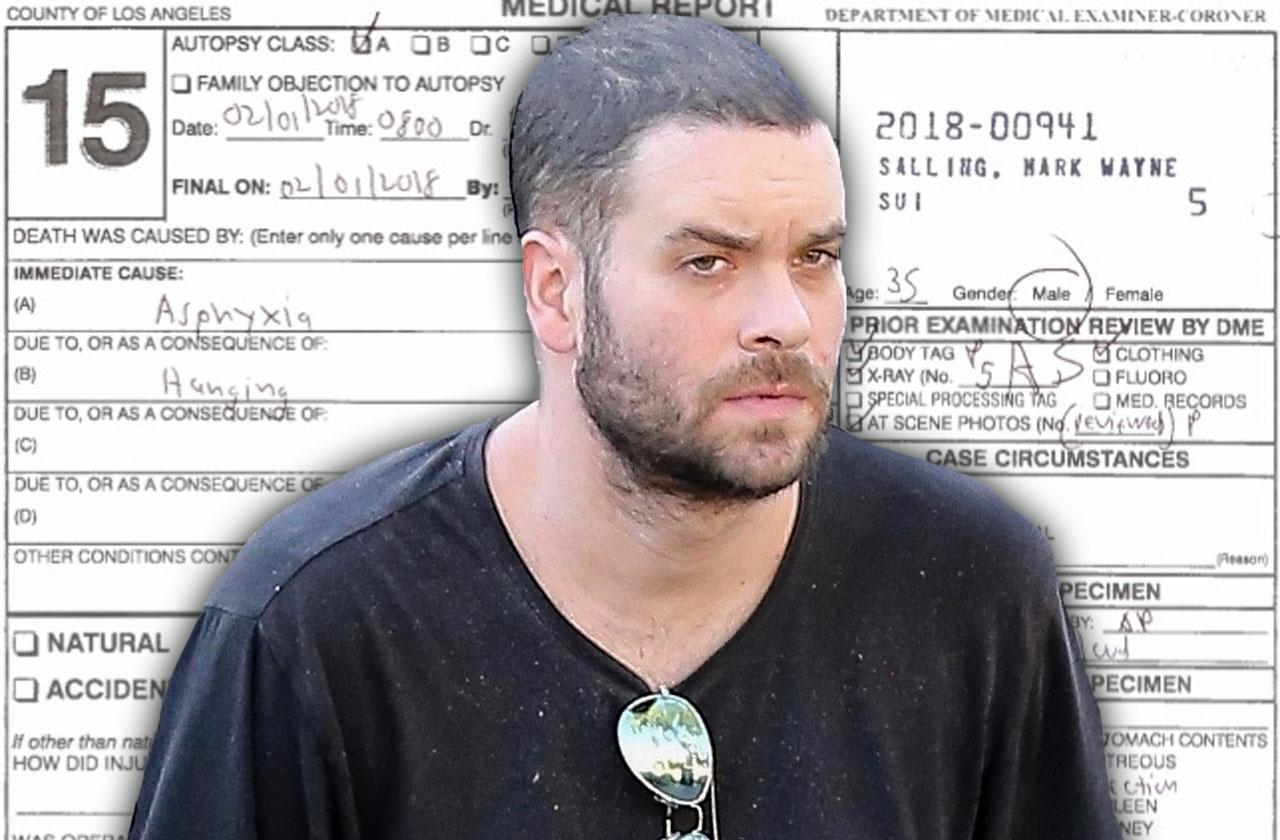 //mark salling autopsy report revealed pp