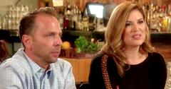 Emily and Shane Simpson Looking Unhappy Inside Restaurant