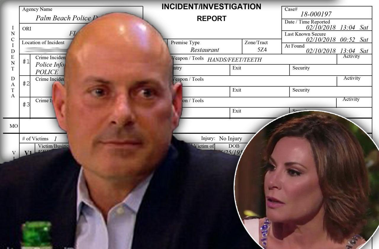 //luann de lesseps ex husband tom drunken bar fight police report pp