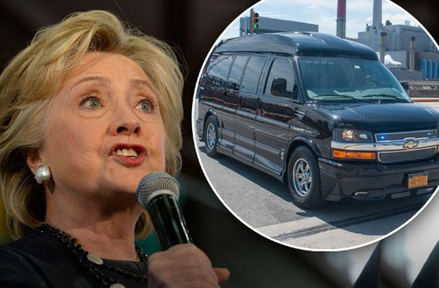 //hillary clinton health bed van outfitted top amenities  pp