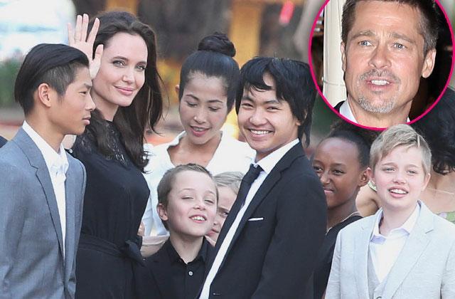 Brad Pitt Angelina Jolie Divorce Custody Battle Kids Cambodia Pics