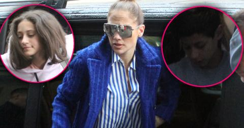 Jennifer Lopez Hits Moscow With Kids