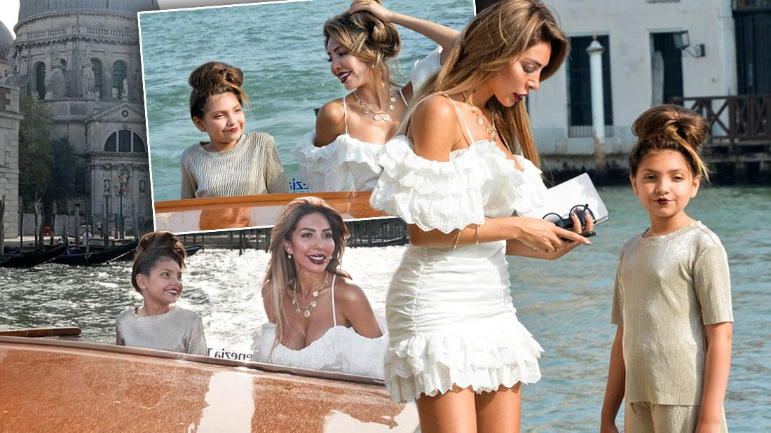 Farrah Abraham Wears White Dress In Venice With Daughter