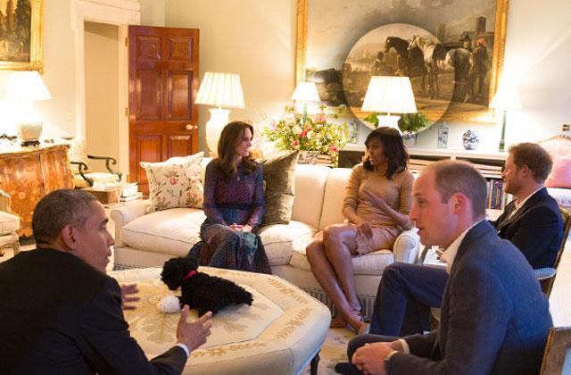 //kate middleton prince william hid painting negro obama visit pp