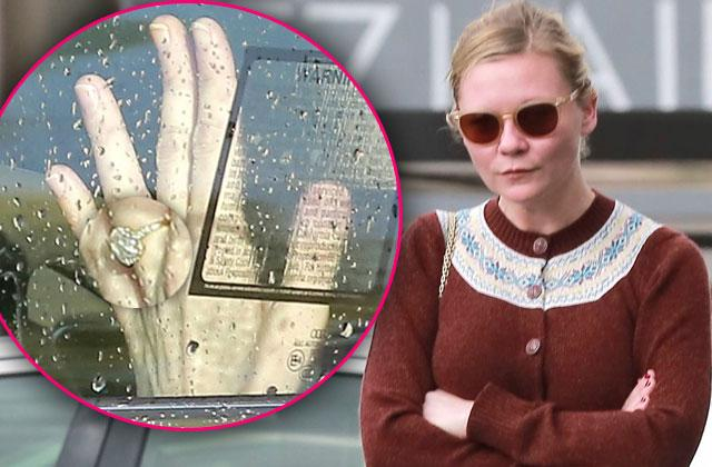 Kirsten Dunst First Glimpse Engagement Ring Jess Plemons