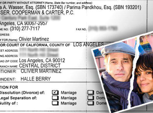 Halle Berry Olivier Martinez Divorce Papers Filed