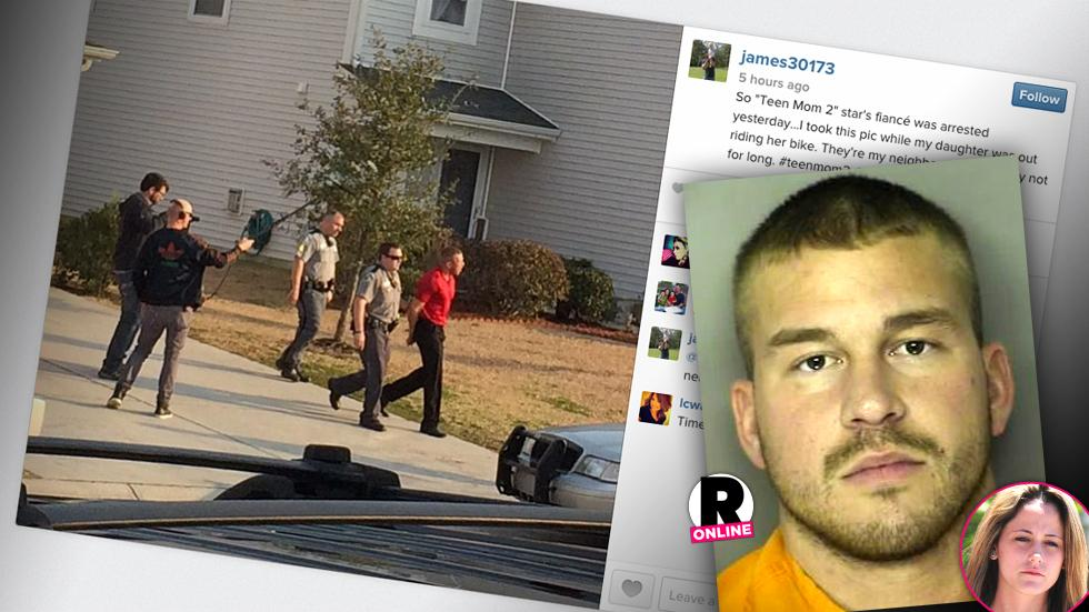 Jenelle Evans Fiancé Nathan Griffith Arrested In Handcuffs