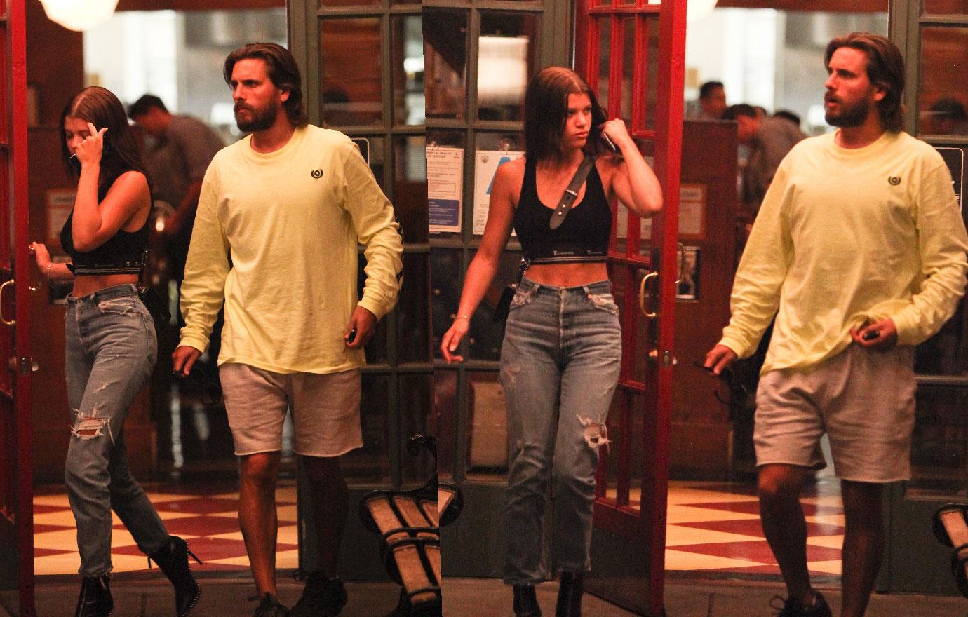 Scott Disick And Sofia Richie Leave Restaurant In Los Angeles