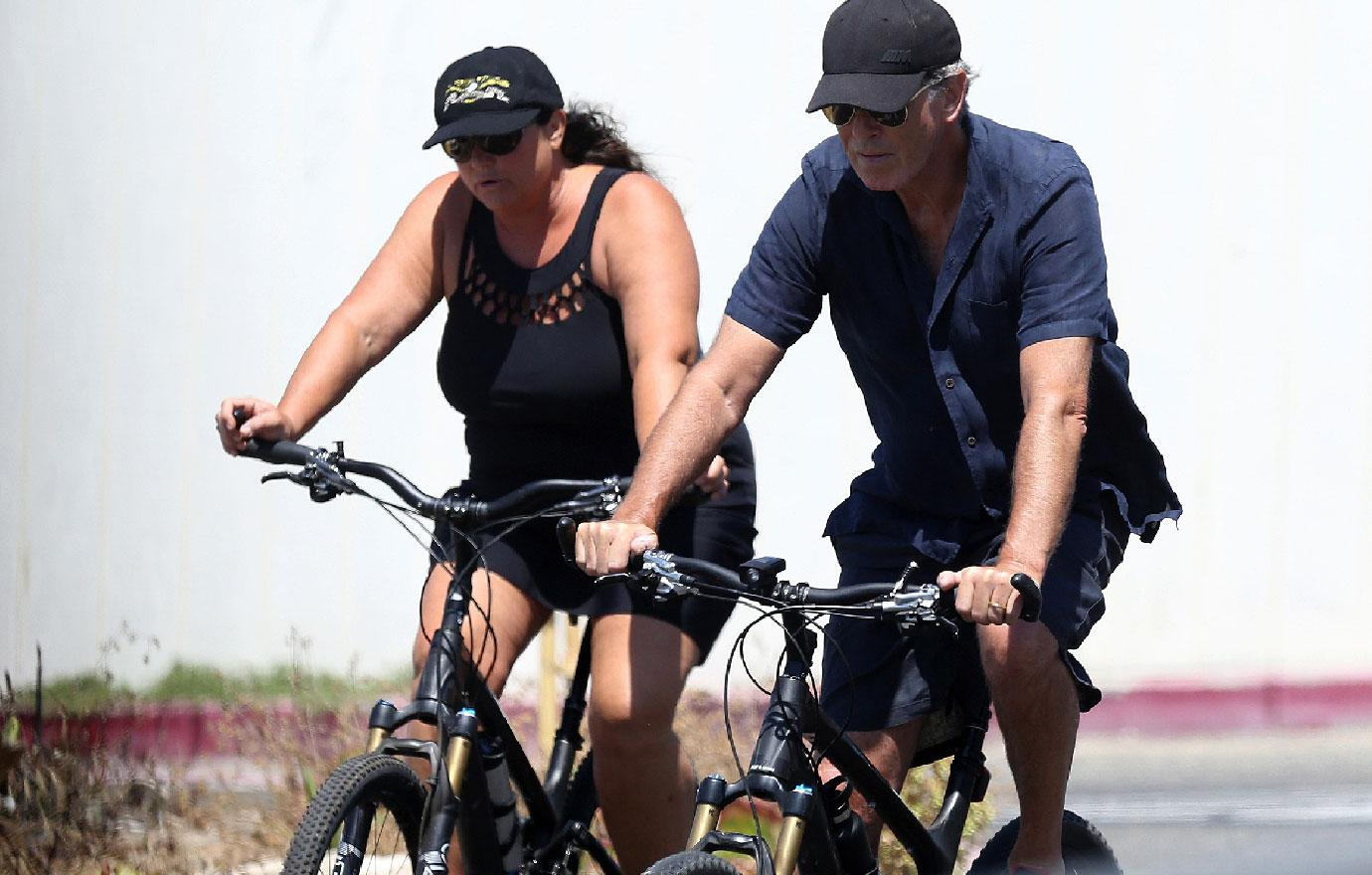 Pierce Brosnan And Wife Keely Take Ocean Bike Ride