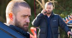 Justin Timberlake Looks WorriedOn Set While Filming After PDA With Costar