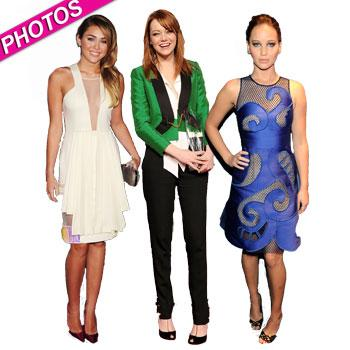 //miley cyrus emma stone jennifer lawrence peoples choice arrivals
