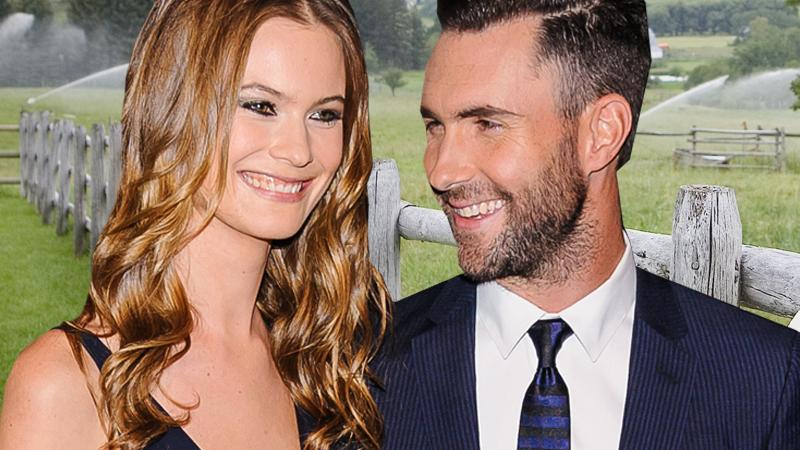 //adam levine and behati prinsloo pp