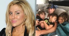 Gina Kirschenheiter Closeup with Inset of Matt Kirschenheiter Lounging with 3 Kids