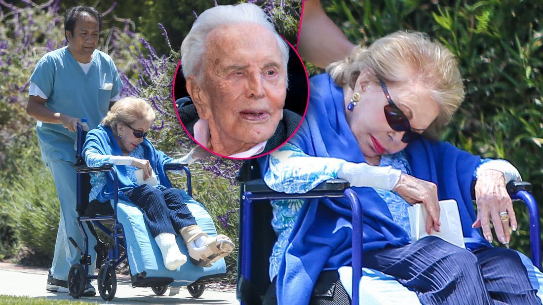 Kirk Douglas Wife Anne Buydens 100th Birthday