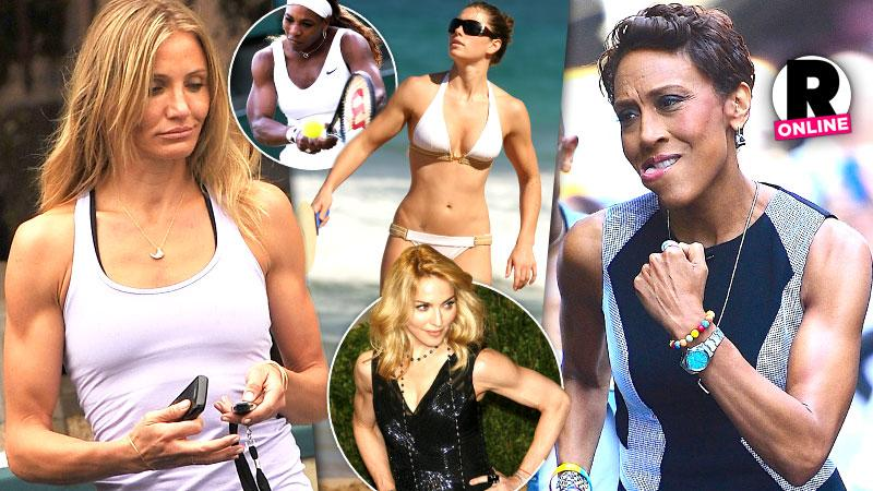 //suns out guns out female celebs show off their muscular arms bodies pp sl