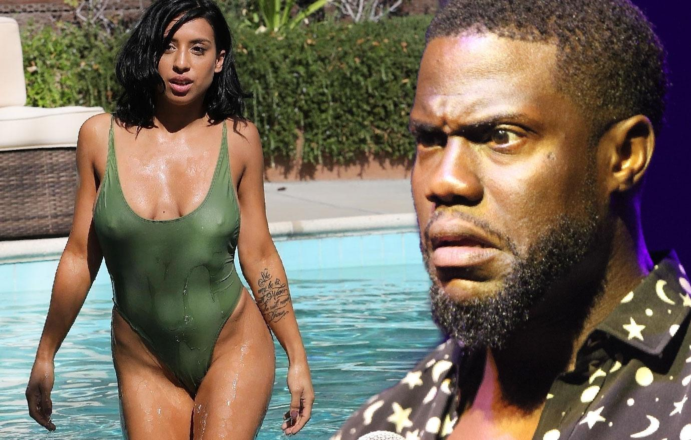 Kevin Hart Alleged Extortion Girl Swimsuit Body Photos