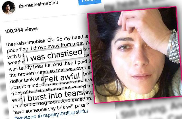 Selma Blair Breakdown Crying Gas Station Instagram Video