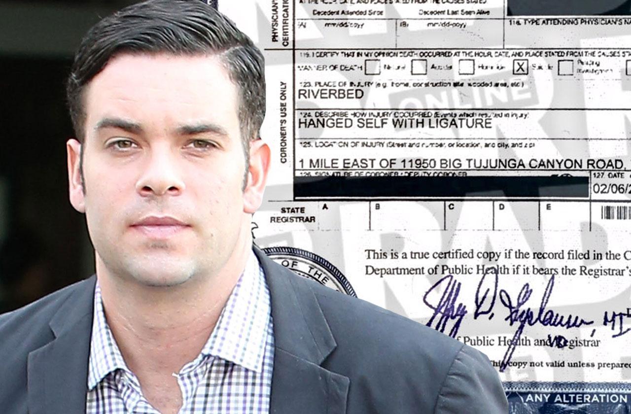 //mark salling death certificate revealed pp