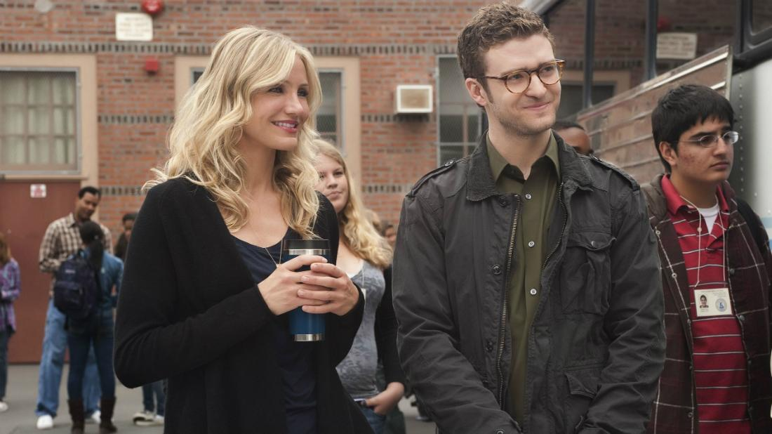 Cameron Diaz and Justin Timberlake in a scene from their movie Bad Teacher.