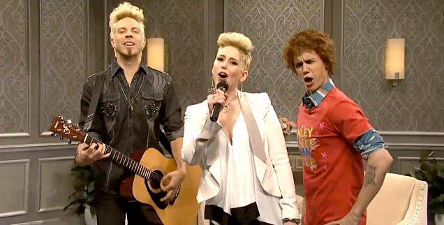 //miley billy ray cyrus justin bieber snl wide