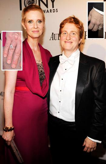 //cynthia nixon wife rings tonys