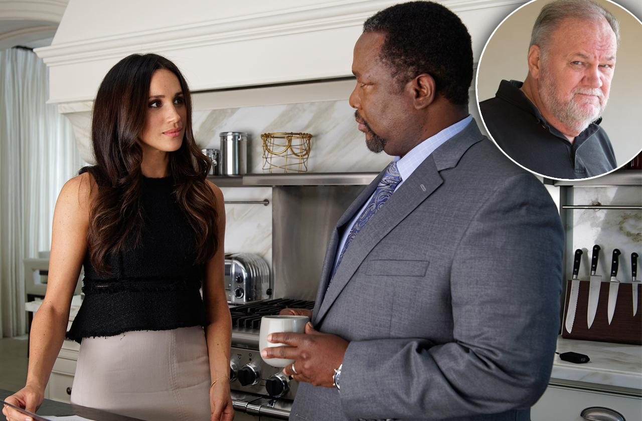 Meghan Markle Turns To On-Screen Dad Wendell Pierce Amid Drama With Real Father Thomas