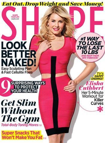 //elisha cuthbert shape cover february