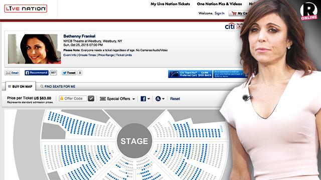 Bethenny Frankel Speaking Appearance Tour Ticket Sales Flop
