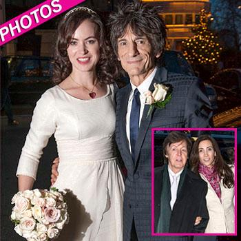//ronnie wood sally humphries wedding post