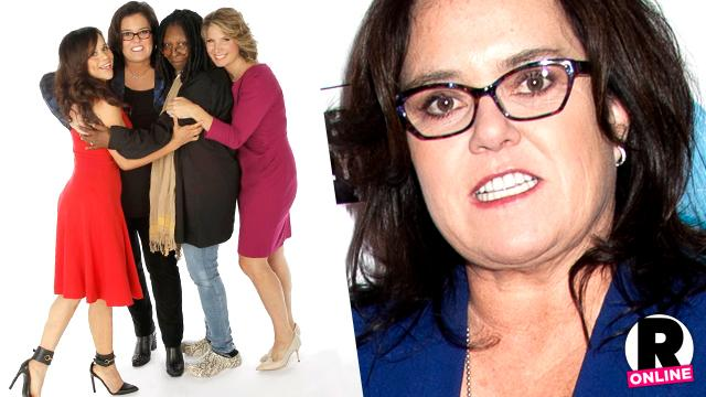 //the view cast at peace rosie odonnell departure PP